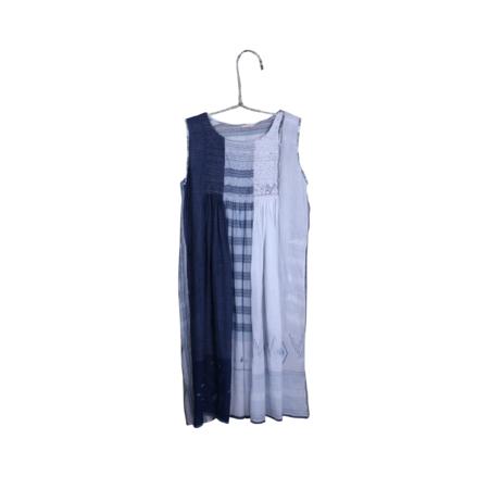 Injiri Pieced Sleeveless Dress - Blue