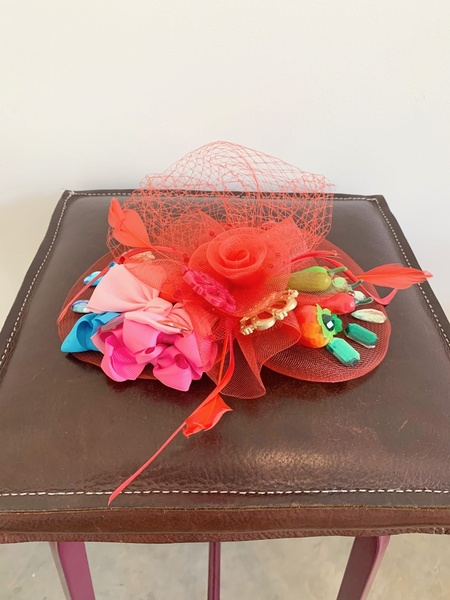 Katherine St. Paul Hill Chili Peppers n Bows Fascinator