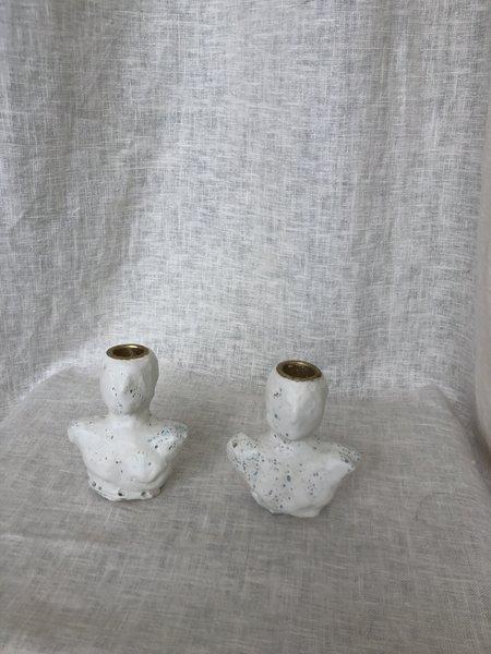 Groh Artifact Lucerna Candlestick Holders - White/Blue