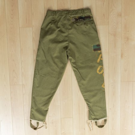 Origami Crane Gold Letter Euro Military Pants