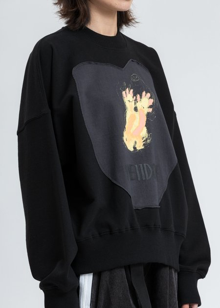 we11done Graffiti Patch Sweatshirt - Black