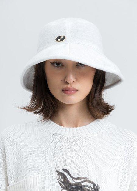 we11done Big Brim Bucket Hat - White
