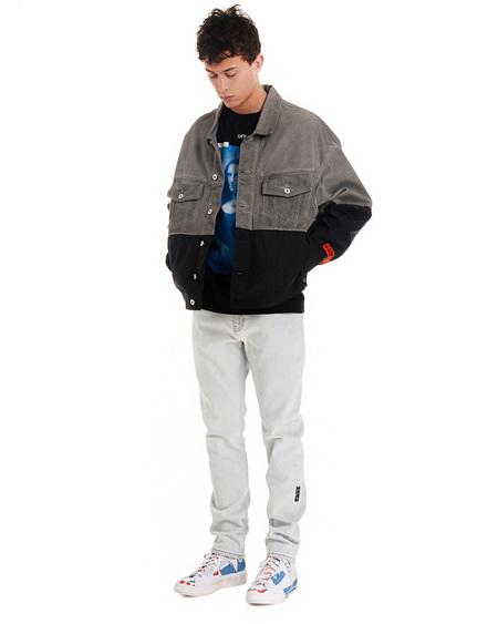 Heron Preston Denim Nylon Trucker jacket - gray