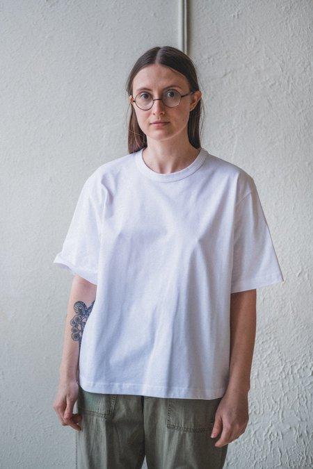 Studio Nicholson LEE T-SHIRT - OPTIC WHITE MERCERIZED COTTON
