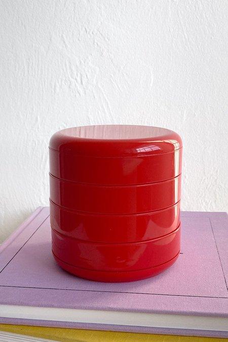 Vintage Rino Pirovano Rotating Organizer - Red