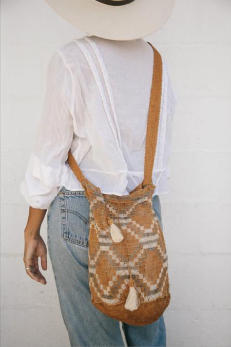 Pampa Litoral #0510 Woven Bag - Orange/Natural/Brown