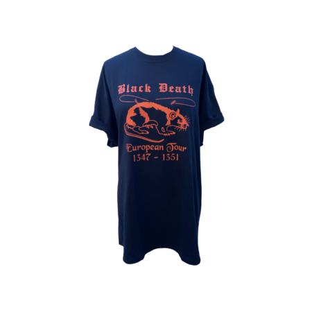 Farm Stand Black Death European Tour T-Shirt - blue