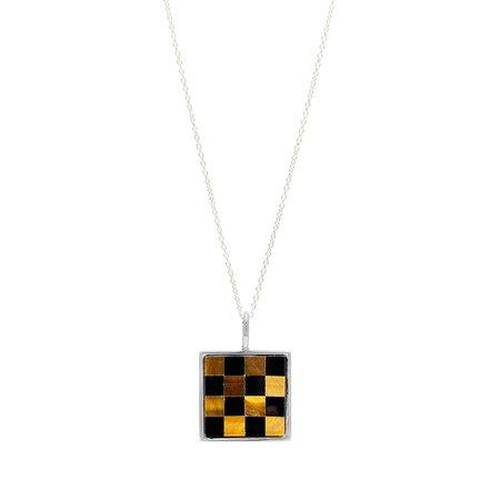 Unisex Tarin Thomas Samuel Necklace - Checkered