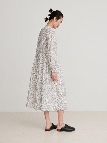skall studio Shiro Dress - White/Grey print