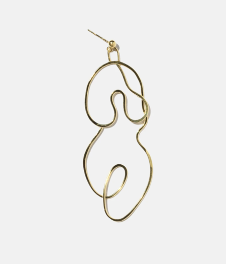 Knobbly Studio Large Nude No.2 Earring - Gold Vermeil