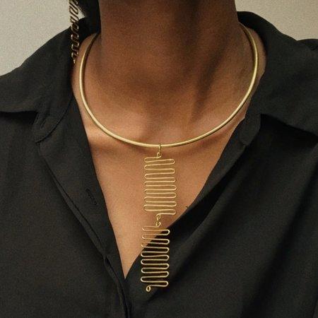 Mahnal Janan Collar - Brass