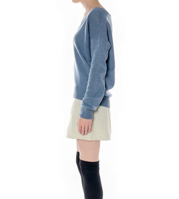 Raquel Allegra Shredded Back Pullover