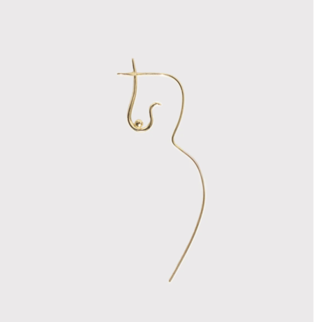 Knobbly Studio Flowing Nude Earring  - Gold Vermeil