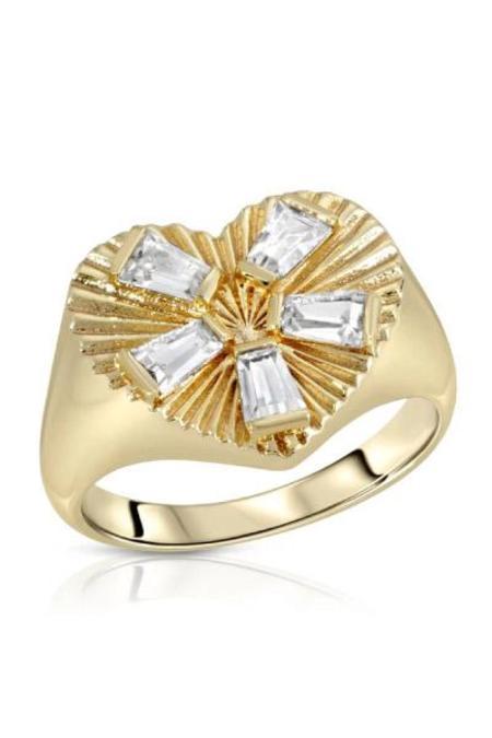 Elizabeth Stone Modern Love Signet Ring
