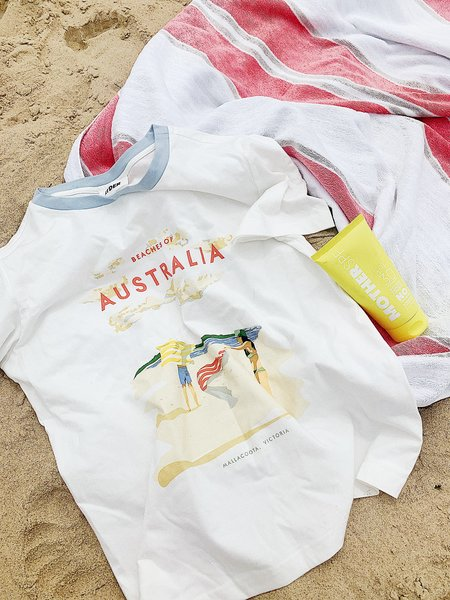 Ryder Beaches of Australia Tee - White/Blue