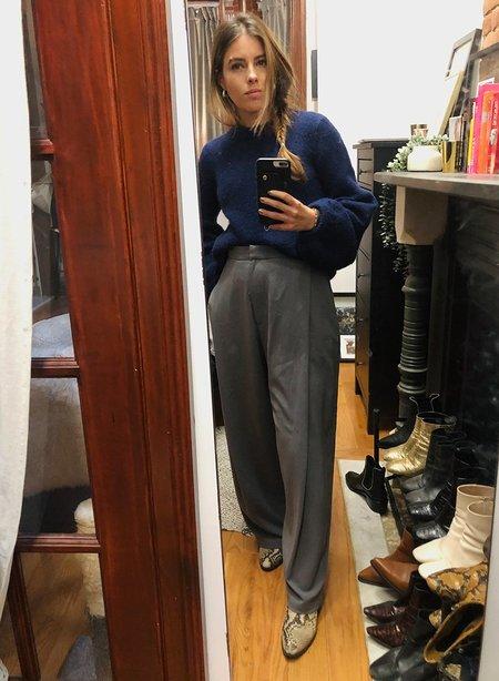 Meg Pleated Trousers - Gray