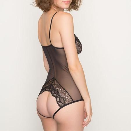 Only Hearts Whisper Sweet Nothings Coucou Bodysuit - Black
