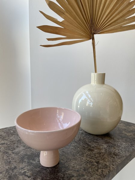 Matagalan Plantae Caliz 13 cm tall Vase - Pale Pink