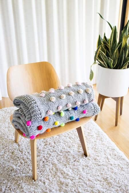 Cabbages & Kings Pom Crib Blanket