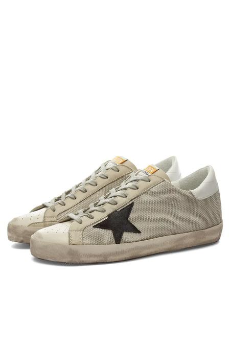 Golden Goose Super Star Net Upper Suede Star Leather Heel Sneakers