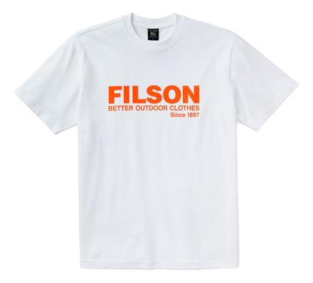 Filson S/S Pioneer Graphic T-Shirt - Bright White