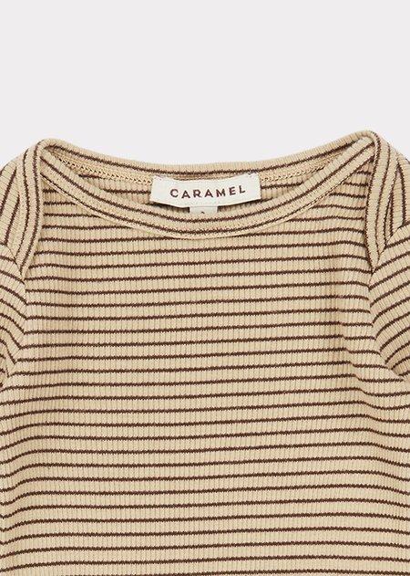Kids Caramel Flycatcher Baby T Shirt - Straw/Cocolate