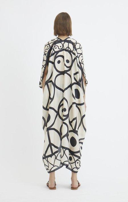 Rodebjer Agave Symbols caftan - Silk Print