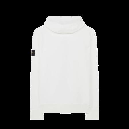 Stone Island Zip-up Hoodie - White