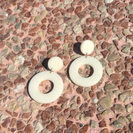 Project Bon Circulo Earrings = Ivory