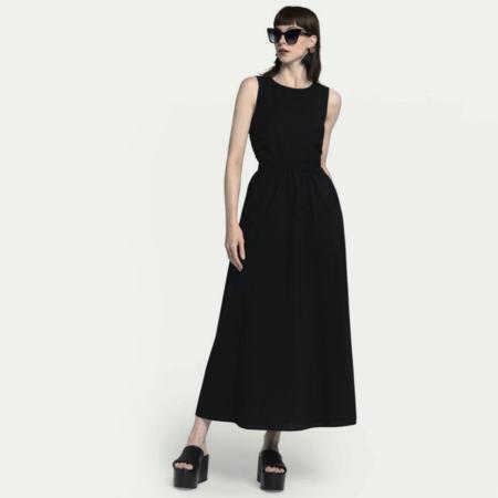 Ottod'Ame Open Back Maxi Dress - Black