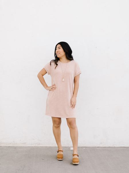 Hayden LA Slub Knit Mini Dress - Heathered Pink