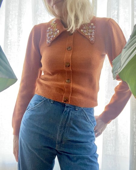 Tach Clothing Cisne Embroidered Sweater  - Orange