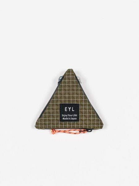 EYL Dyneema 210 Denier X-grid Coin Purse - Olive