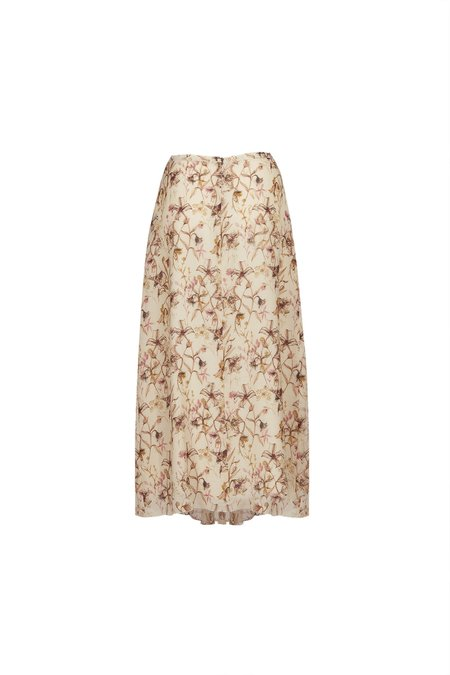 Pomandere Winter Floral Skirt