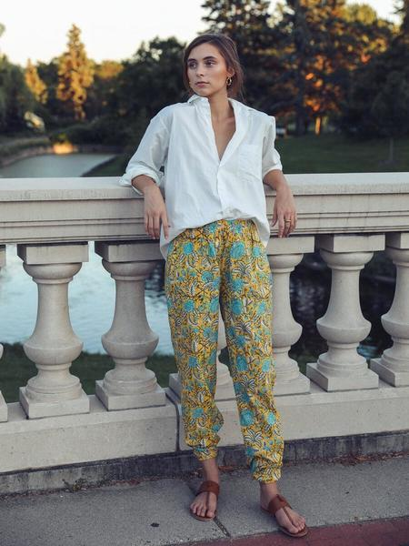 Mille Isla Pants - Yellow Floral