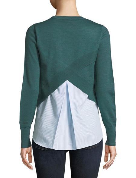 Veronica Beard Alma Sweater - Green