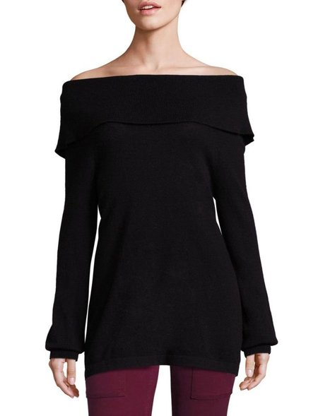 Joie Bade Off-the-Shoulder Sweater - Caviar
