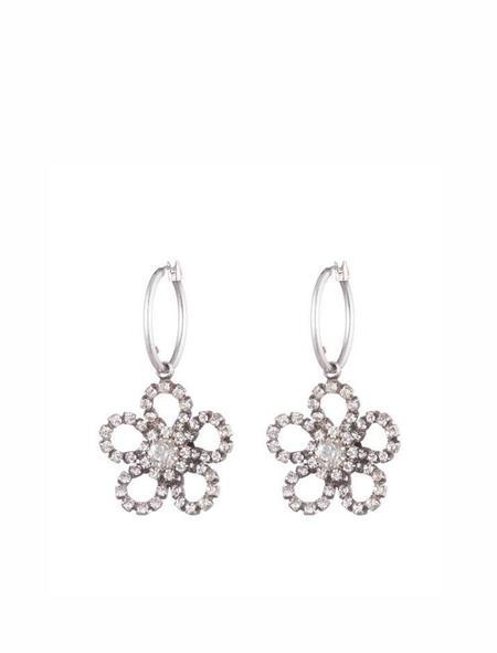 Dannijo Hibiscus Earrings - Silver