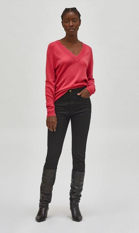 Equipment Madalene V-Neck sweater - Cerise
