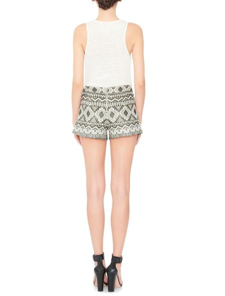 Alice + Olivia Marisa Embroidered Shorts - Multi