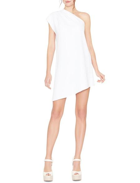 Alice + Olivia Melina One Shoulder Dress - white
