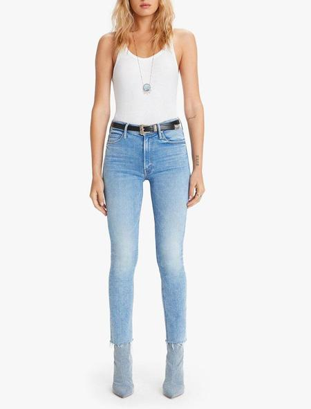 Mother Denim Mid Rise Dazzler Ankle Fray - Dropping In