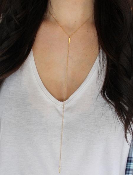 Jennifer Zeuner Pia Extended Lariat Necklace