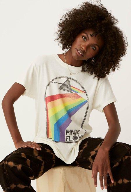 Daydreamer Pink Floyd Retro Rainbow Tour Tee - Stone Vintage