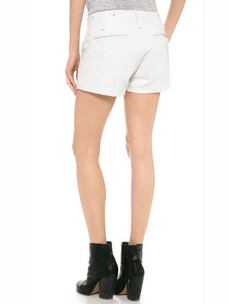 Rag & Bone Portobello leather shorts - white