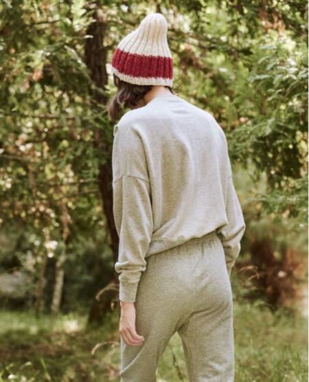 The Great. The Bow Sweatshirt. - Light Heather Grey