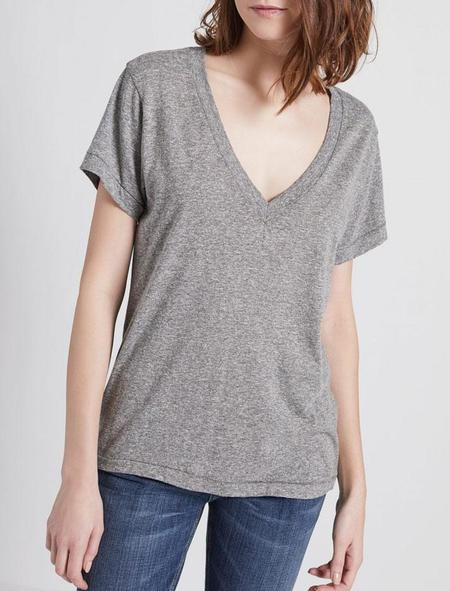 Current Elliott V Neck Tee shirt - heather grey