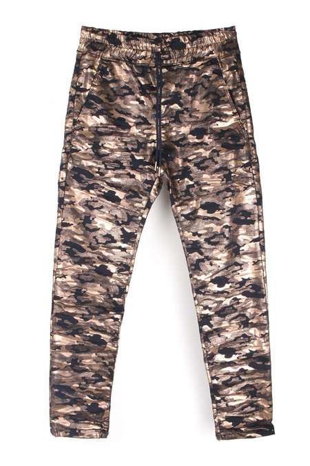 Bevy Flog Shely Pants - Navy/Gold Camo