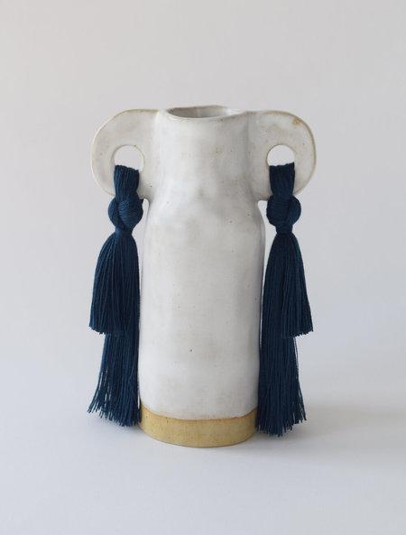 Karen Gayle Tinney Vase #606 - White