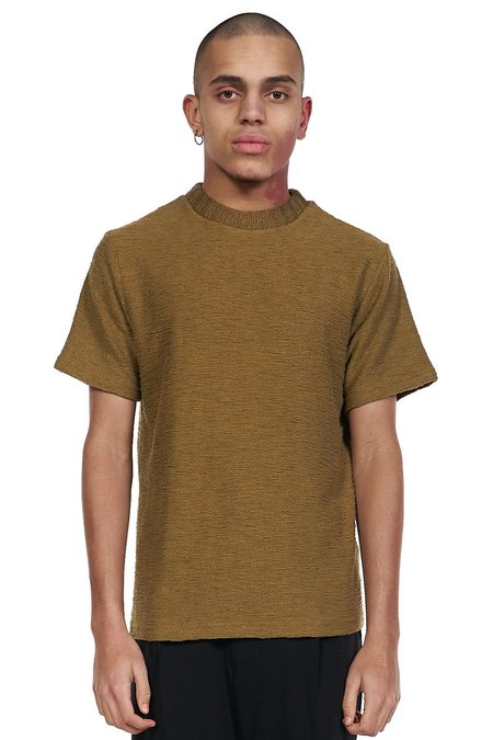 ANDERSSON BELL Short Sleeve Knit Top - Ochre